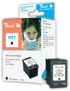 Peach Tête d'impression  noire, compatible avec ID-Fabricant: No. 27, C8727AE HP DeskJet 3420