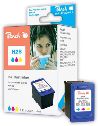Peach Tête d'impression  couleur, compatible avec ID-Fabricant: No. 28, C8728AE HP DeskJet 3420
