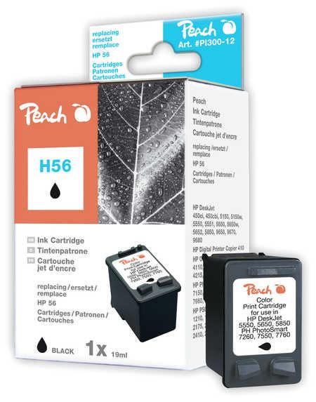 Peach Tête d'impression  noire, compatible avec ID-Fabricant: No. 56, C6656AE HP PSC 1310