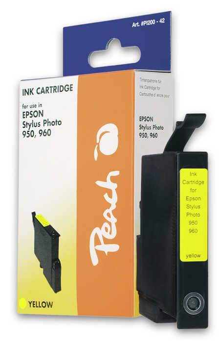 Peach Cartouche d'encre  jaune, compatible avec ID-Fabricant: T0334 Epson Stylus Photo 950