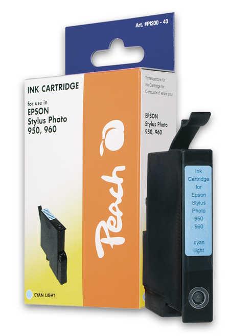 Peach Cartouche d'encre  cyan clair, compatible avec ID-Fabricant: T0335 Epson Stylus Photo 950