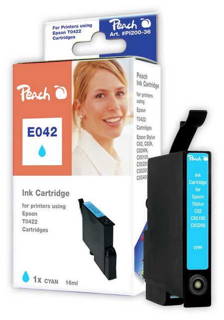 Peach Cartouche d'encre  cyan, compatible avec ID-Fabricant: T0422 Epson Stylus C 82
