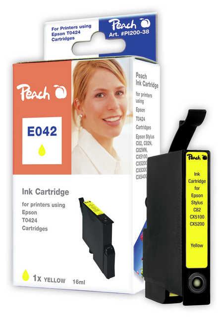 Peach Cartouche d'encre  jaune, compatible avec ID-Fabricant: T0424 Epson Stylus C 82