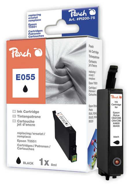 Peach Cartouche d'encre  noir, compatible avec ID-Fabricant: T0551 Epson Stylus Photo RX 420