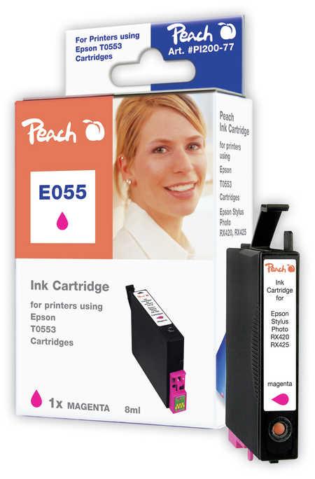 Peach Cartouche d'encre  magenta, compatible avec ID-Fabricant: T0553 Epson Stylus Photo RX 420