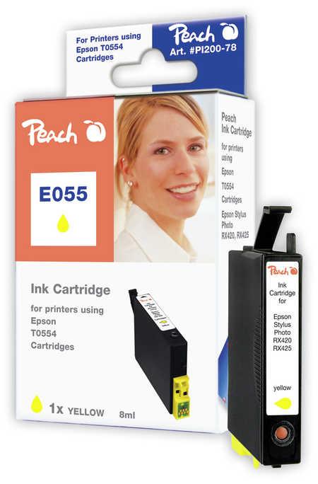 Peach Cartouche d'encre  jaune, compatible avec ID-Fabricant: T0554 Epson Stylus Photo RX 420