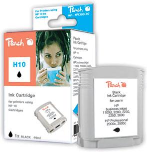 Peach Cartouche d'encre  noir, compatible avec ID-Fabricant: Nr. 10, C4844A HP Business InkJet 1000