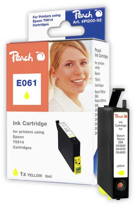 Peach Cartouche d'encre  jaune, compatible avec ID-Fabricant: T0614 Epson Stylus DX 4850