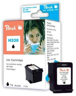Peach Tête d'impression  noire, compatible avec ID-Fabricant: No. 338, C8765E HP PhotoSmart C 3150