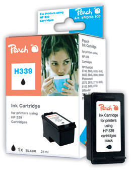 Peach Tête d'impression  noire, compatible avec ID-Fabricant: No. 339, C8767E HP DeskJet 5740