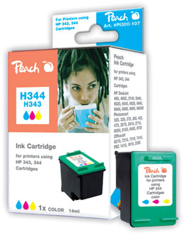 Peach Tête d'impression  couleur, compatible avec ID-Fabricant: No. 344, C9363E HP DeskJet 5740