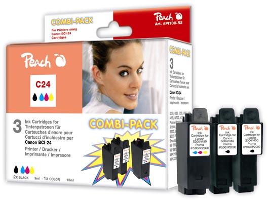 Peach Multipack , compatible avec ID-Fabricant: BCI-24-series Canon imageCLASS MPC 200
