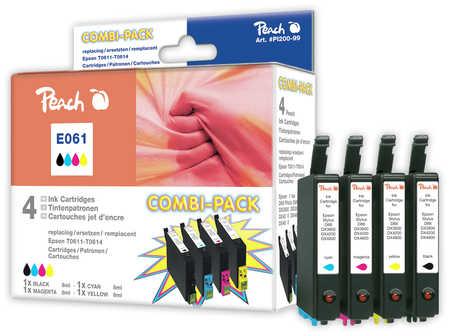 Peach  Multi Pack, compatible avec ID-Fabricant: T0615 (T0611, T0612, T0613, T0614) Epson Stylus DX 4850