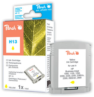 Peach Cartouche d'encre  jaune, compatible avec ID-Fabricant: No. 13, C4817AE HP Business InkJet 1000