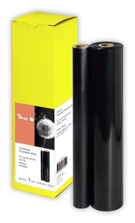 Peach  Thermal Transfer Rolls, compatible with Philips Fax Magic Primo