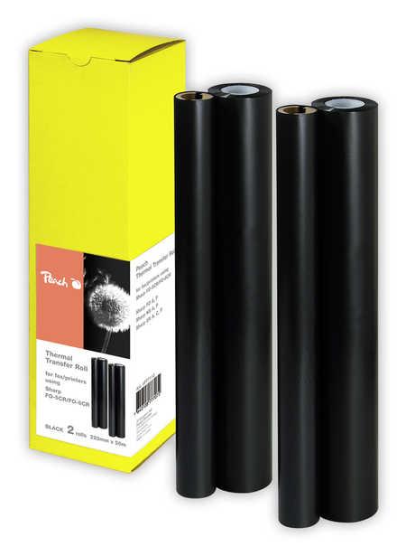 Peach 2rouleaux de papier transfert thermique , compatibles avec Sharp FOD 60