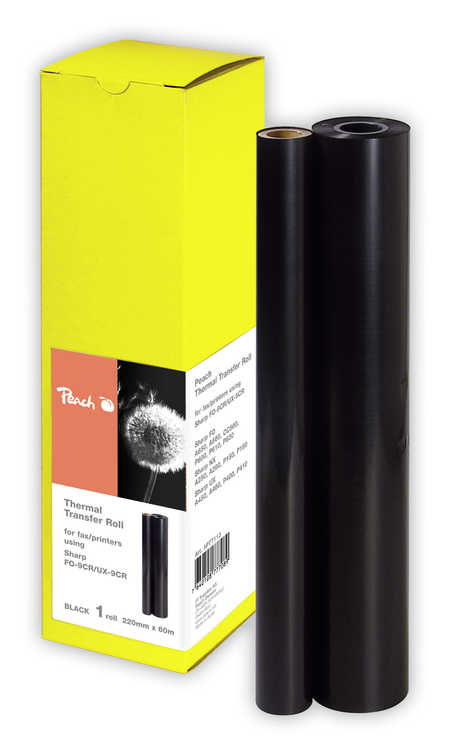 Peach  Thermal Transfer Rolls, compatible with Sharp UXA 160