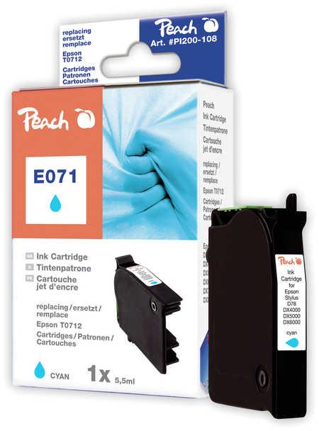 Peach Cartouche d'encre  cyan, compatible avec ID-Fabricant: T0712 Epson Stylus Office BX 310 FN