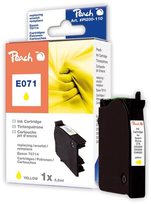 Peach Cartouche d'encre  jaune, compatible avec ID-Fabricant: T0714 Epson Stylus Office BX 310 FN