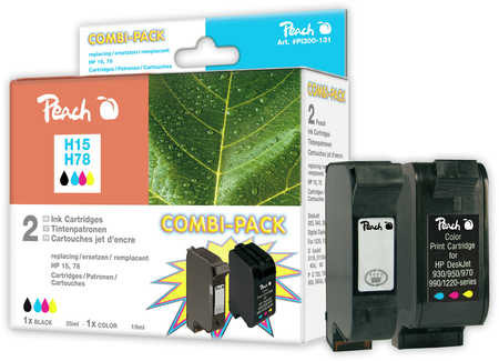 Peach  Multi Pack, compatible avec ID-Fabricant: No. 15, C6615D, No. 78, C6578D HP Digital Copier 310