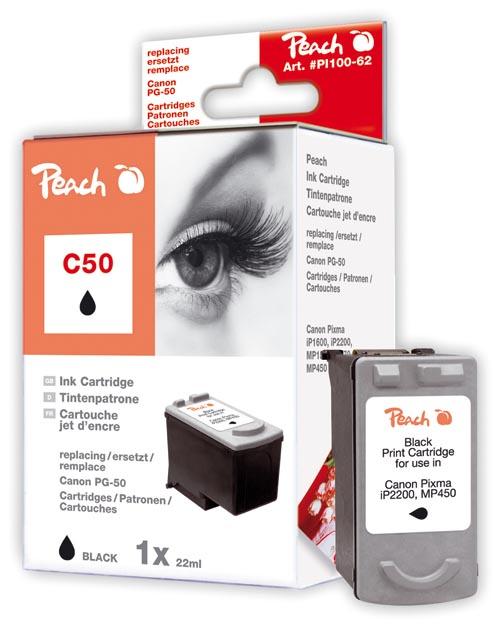 Peach Tête d'impression  noire, compatible avec ID-Fabricant: 0616B001 Canon Pixma IP 2200