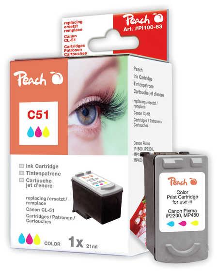 Peach Tête d'impression  couleur, compatible avec ID-Fabricant: CL-51 Canon Pixma IP 2200