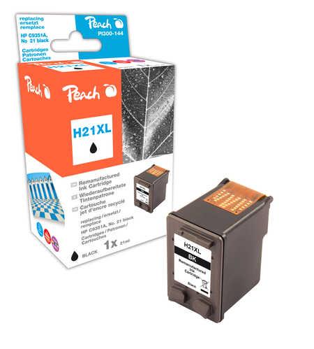 Peach Tête d'impression  noire, compatible avec ID-Fabricant: No. 21XL, C9351AE HP OfficeJet 4625
