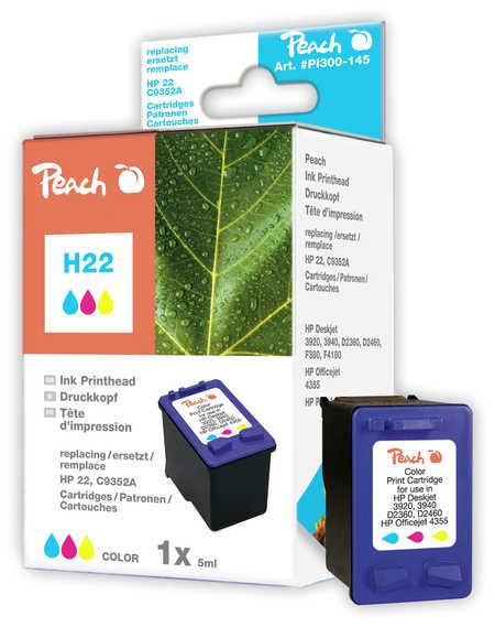 Peach Tête d'impression  couleur, compatible avec ID-Fabricant: No. 22XL, C9352AE HP OfficeJet 4625