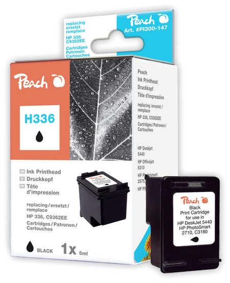 Peach Tête d'impression  noire, compatible avec ID-Fabricant: No. 336, C9362E HP PhotoSmart C 3150