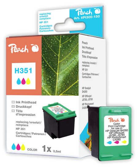Peach Tête d'impression  couleur, compatible avec ID-Fabricant: No. 351, HP CB337EE HP OfficeJet J 5780