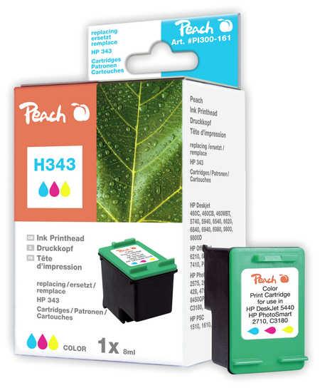 Peach Tête d'impression  couleur, compatible avec ID-Fabricant: No. 343, C8766EE HP PSC 1510