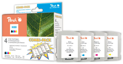 Peach  Multipack compatible avec ID-Fabricant: No. 88 HP OfficeJet Pro K 550