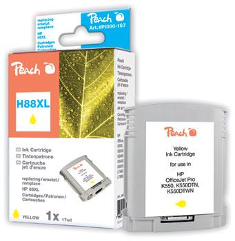 Peach  cartouche d'encre jaune compatible avec ID-Fabricant: No. 88XL, C9393AE HP OfficeJet Pro K 550