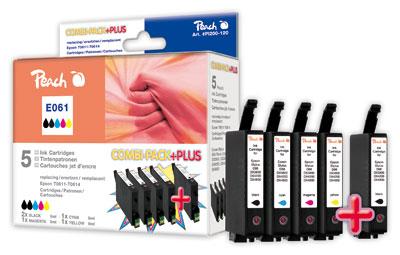 Peach Multipack Plus  compatible avec ID-Fabricant: 2xT0611,T0612,T0613,T0614 Epson Stylus DX 4850