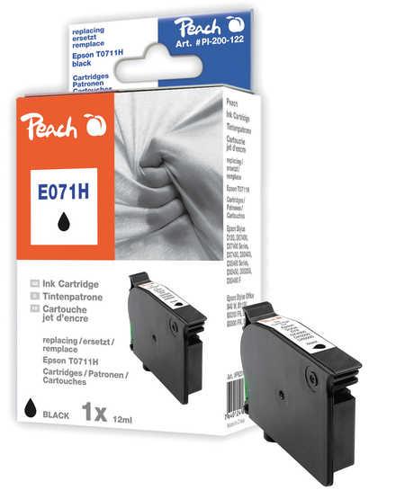 Peach Cartouche d'encre  noir, compatible avec ID-Fabricant: T0711H, C13T07114H10 Epson Stylus Office BX 310 FN