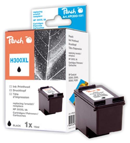 Peach  tête d'impression noire, compatible avec ID-Fabricant: No. 300XL, CC641EE HP DeskJet F 4435