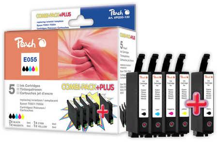 Peach Multipack Plus  compatible avec ID-Fabricant: T0556 (2xT0551, T0552, T0553, T0554) Epson Stylus Photo RX 420