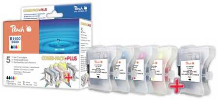 Peach Multipack Plus  compatible avec ID-Fabricant: LC-1100, LC-980 2xbk, je 1 x c, m, y Brother DCP-163 C
