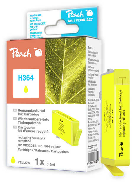 Peach  Ink Cartridge yellow compatible with ID-Fabricant: No. 364, CB320EE HP PhotoSmart Premium C 410 Series