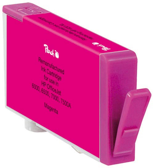 Peach  cartouche d'encre magenta compatible avec ID-Fabricant: No. 920XL, CD973AE HP OfficeJet 6500 Wireless