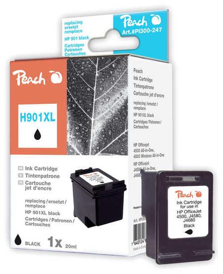 Peach Tête d'impression  noire, compatible avec ID-Fabricant: No. 901XL, CC654AE HP OfficeJet J 4540