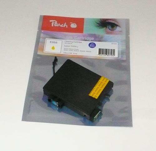 Peach Cartouche de nettoyage  jaune, compatible avec ID-Fabricant: T0554 Epson Stylus Photo RX 420