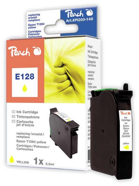 Peach Cartouche d'encre  jaune, compatible avec ID-Fabricant: T128, T1284 Epson Stylus Office BX 305 FW Plus