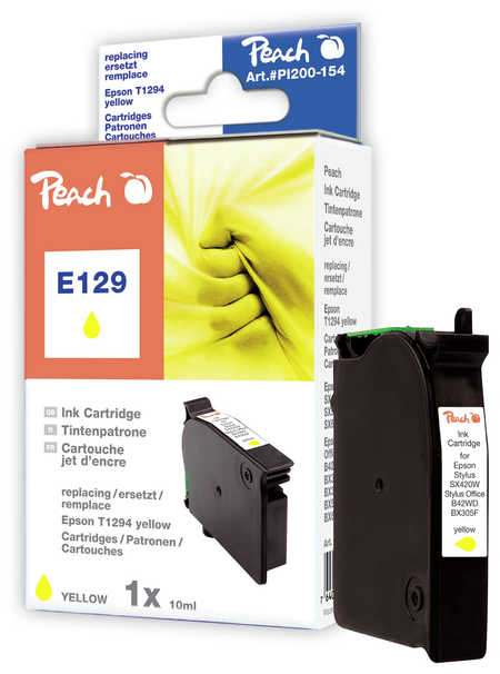 Peach Cartouche d'encre  jaune, compatible avec ID-Fabricant: T129, T1294 Epson Stylus Office BX 305 F