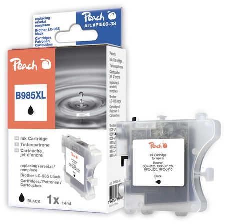 Peach Cartouche d'encre  noir, capacité XL, compatible avec ID-Fabricant: LC-985bk Brother DCPJ 125