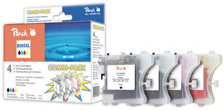 Peach Multipack , compatible avec ID-Fabricant: LC-985 Brother DCPJ 125