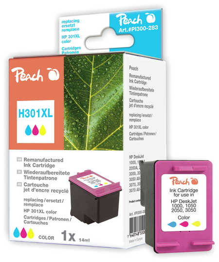 Peach Tête d'impression  couleur, compatible avec ID-Fabricant: No. 301XL, CH564EE HP DeskJet 2050