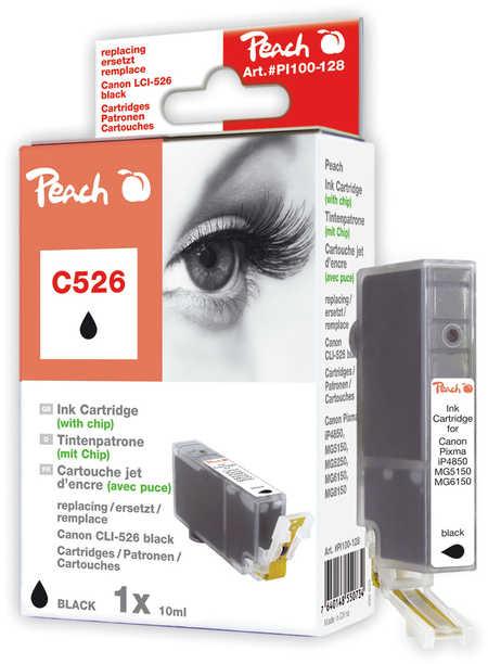 Peach Cartouche d'encre  noir photo, compatible avec ID-Fabricant: CLI-526, CLI-526 bk Canon Pixma MG 5150
