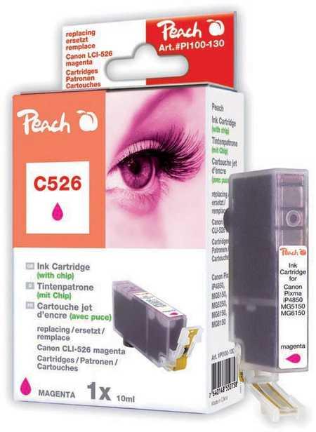 Peach Cartouche d'encre  magenta, compatible avec ID-Fabricant: CLI-526, CLI-526 m Canon Pixma MG 5150