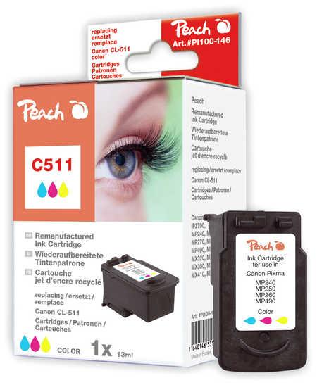 Peach Tête d'impression  couleur, compatible avec ID-Fabricant: CL-511 Canon Pixma MP 240